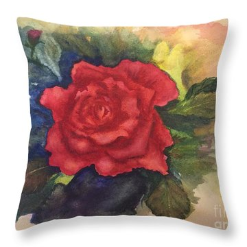 The Beauty Of A Rose Throw Pillow by Lucia Grilletto
