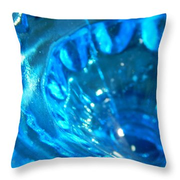 The Beauty Of Blue Glass Throw Pillow
