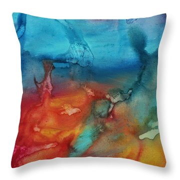 The Beauty Of Color 2 Throw Pillow by Megan Duncanson