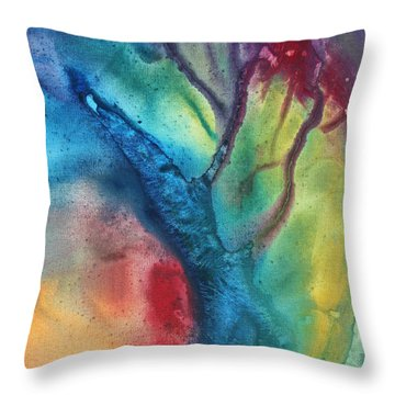 The Beauty Of Color 3 Throw Pillow by Megan Duncanson