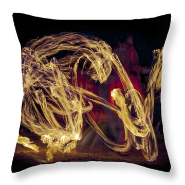 Throw Pillow featuring the photograph The Beauty Of Fire by Karen Musick