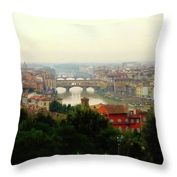 Throw Pillow featuring the photograph The Beauty Of Florence  by Alan Lakin
