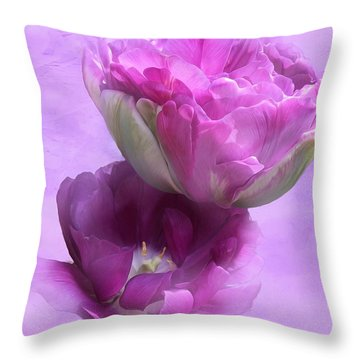 The Beauty Of Flowers Throw Pillow by Gabriella Weninger - David