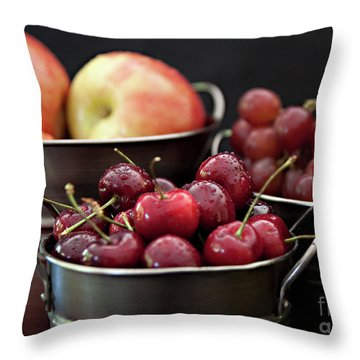 The Beauty Of Fresh Fruit Throw Pillow