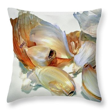 The Beauty Of Garlic Throw Pillow