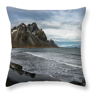 Throw Pillow featuring the photograph The Beauty Of Iceland by Sandra Bronstein