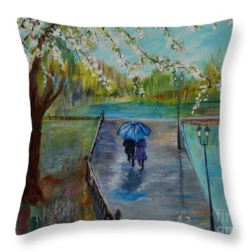 The Beauty Of It All Throw Pillow by Leslie Allen