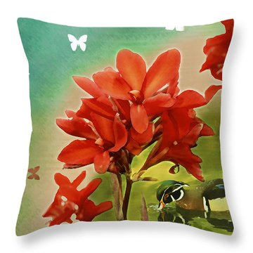 The Beauty Of Nature Throw Pillow by Claudia Ellis