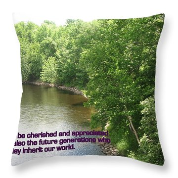 The Beauty Of Nature Throw Pillow by John Lavernoich