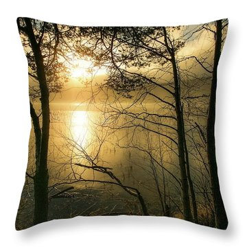 The Beauty Of Nature Throw Pillow by Rose-Marie Karlsen