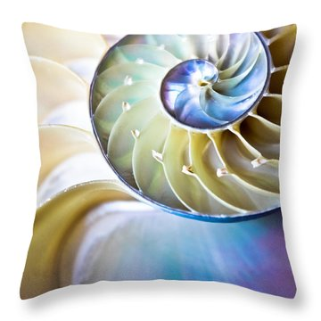 The Beauty Of Nautilus Throw Pillow