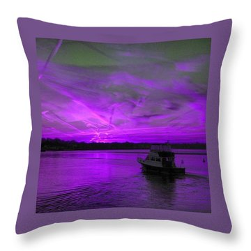 The Beauty Of Purple Throw Pillow
