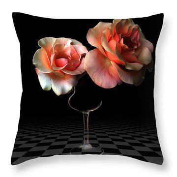 The Beauty Of Roses Throw Pillow