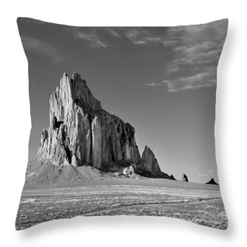The Beauty Of Shiprock Throw Pillow
