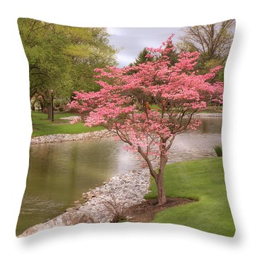 Throw Pillow featuring the photograph The Beauty Of Spring by Angie Tirado