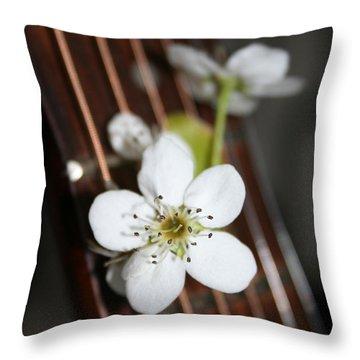 The Beauty Of Strings Throw Pillow by Linda Sannuti