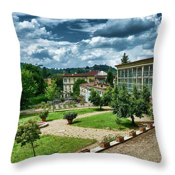 The Beauty Of The Boboli Gardens Throw Pillow