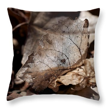 Throw Pillow featuring the photograph The Beauty Of The End by Rona Black
