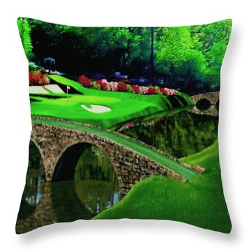The Beauty Of The Masters Cropped Version Throw Pillow