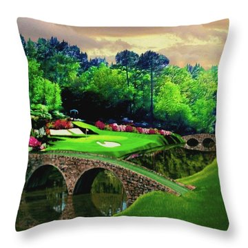 The Beauty Of The Masters Throw Pillow by Ron Chambers