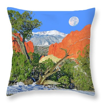 The Beauty That Takes Your Breath Away And Leaves You Speechless. That's Colorado.  Throw Pillow by Bijan Pirnia