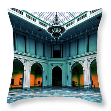 Throw Pillow featuring the photograph The Beaux-arts Court by Chris Lord