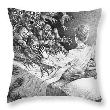 The Bedside Lamp Throw Pillow