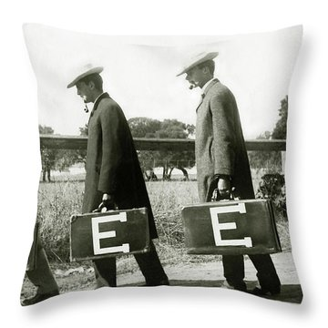 The Beer Boys Throw Pillow
