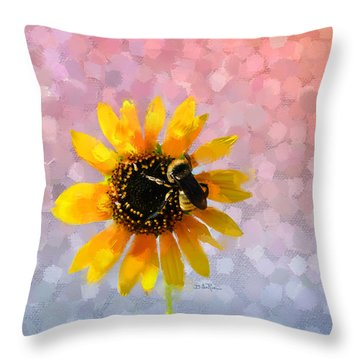 Throw Pillow featuring the photograph The Bee's Knees by Betty LaRue
