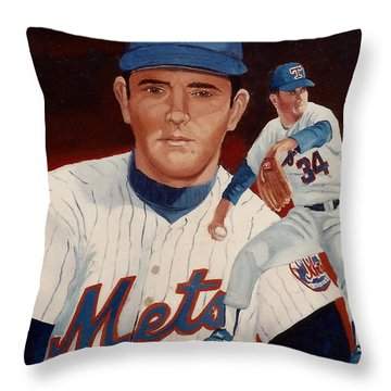 From The Mets To The Rangers Throw Pillow