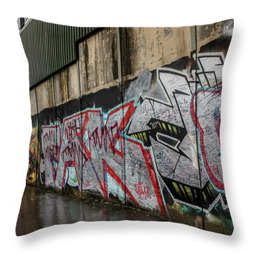 The Belfast Peace Wall Throw Pillow