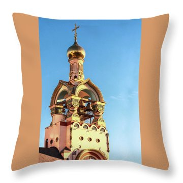 The Bell Tower Of The Temple Of Grand Duke Vladimir Throw Pillow