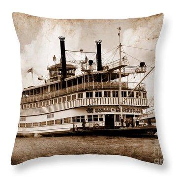 The Belle Of Louisville Kentucky Throw Pillow
