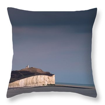 The Belle Tout Lighthouse Throw Pillow