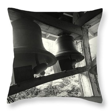 The Bells Throw Pillow by Lois Lepisto