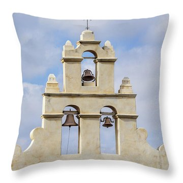 Throw Pillow featuring the photograph The Bells Of San Juan by Mary Jo Allen