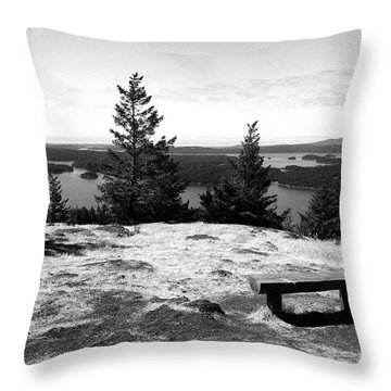 Throw Pillow featuring the photograph The Bench Atop Turtleback by Lorraine Devon Wilke