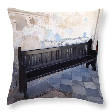 The Bench Throw Pillow by Lois Lepisto