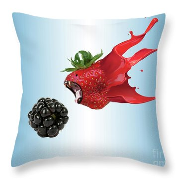 Throw Pillow featuring the photograph The Berries by Juli Scalzi