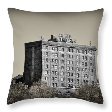 The Bethlehem Hotel Throw Pillow by Bill Cannon