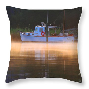 The Bette S Throw Pillow by Marty Fancy