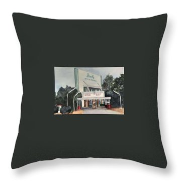 The Beverly Drive Inn Throw Pillow