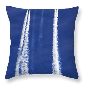 The Big Arrow Up Throw Pillow by Angel  Tarantella