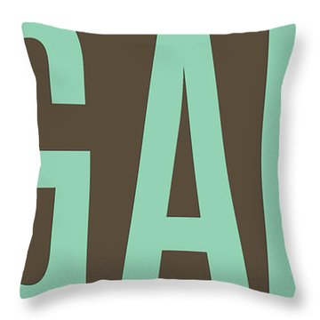 The Big Art - Pure Emerald On Cotton Throw Pillow