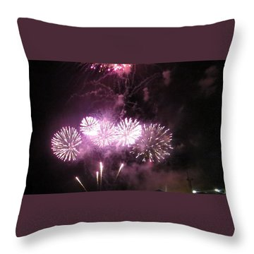 Throw Pillow featuring the photograph The Big Big Boom by Aaron Martens