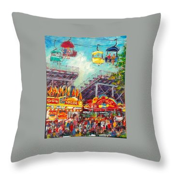 Throw Pillow featuring the painting The Big Cheese by Les Leffingwell