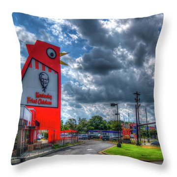 Throw Pillow featuring the photograph The Big Chicken by Reid Callaway