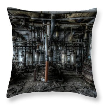 Throw Pillow featuring the digital art The Big Experiment  by Nathan Wright