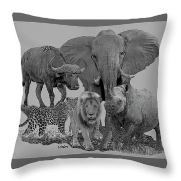 The Big Five Throw Pillow