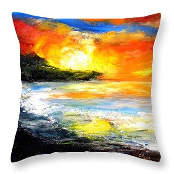 The Big Island Throw Pillow by David McGhee